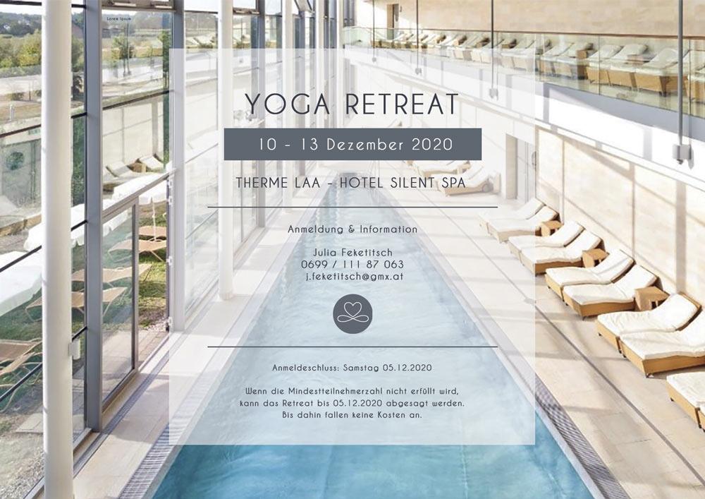 Yoga Retreat in der Therme Laa im Dezember